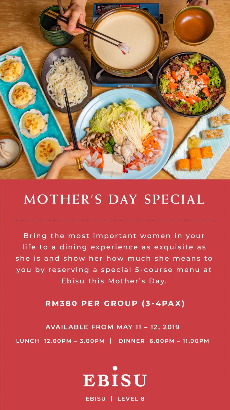 Raikan Hari Ibu bersama Pavilion Hotel Kuala Lumpur