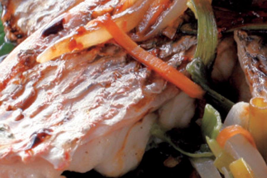 Ikan Kukus Siew Pak Choy