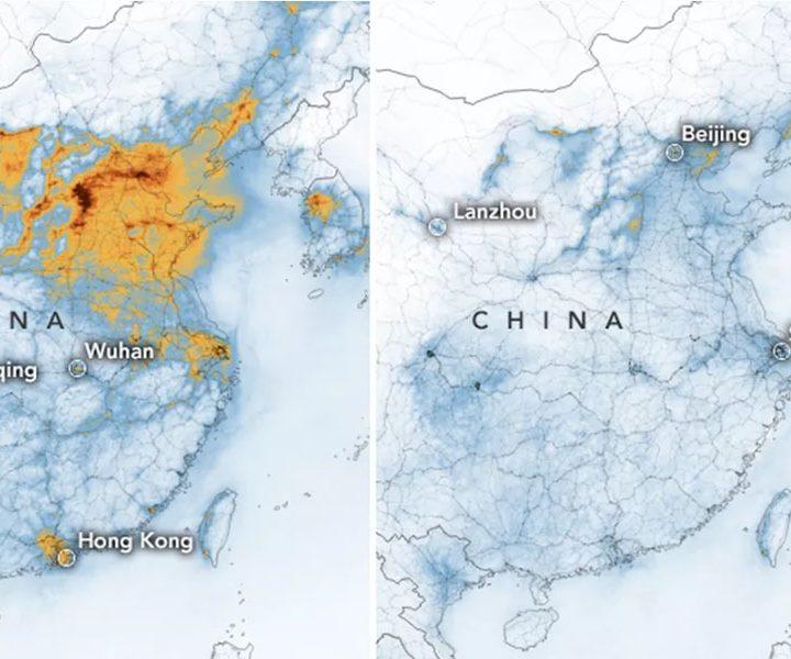Pencemaran udara di China semakin berkurangan